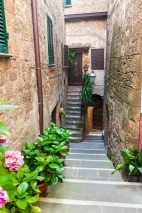 Stair and Streets of Pitigliano