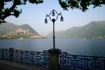Street lamp on the lake front, Lugano
