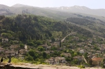 View of Gjirokaster from the castle, Albania