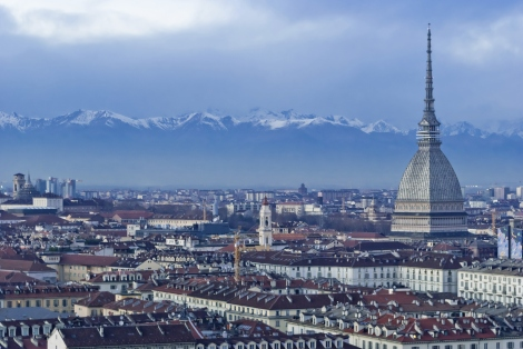 City of Turin and the Alps