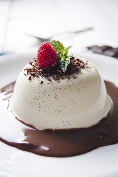 Traditional Italian dessert panna cotta