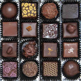 Box of various Italian chocolates
