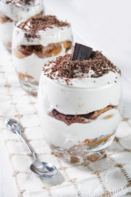 Traditional italian dessert with chocolate