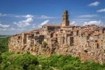 Pitigliano city on the cliff, Italy