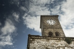 Clock tower in Gjirokastra, Albania