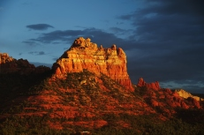 Landscape sunset evening of red rock at Sedona Arizona