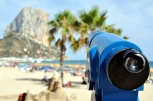 Turistic Telescope at the Calpe Beach