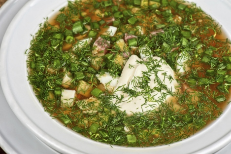 Okroshka Traditional Russian Dish