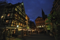 Strasbourg, night street view