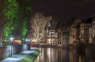 Canal in Petite France area, Strasbourg, Alsace