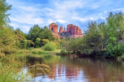 Horizontal view of Cathedral Rock