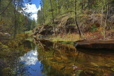 Oak Creek Canyon Cloud Reflection