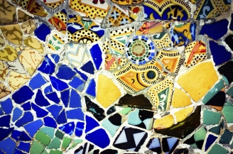 Park Guell Mosaic Background