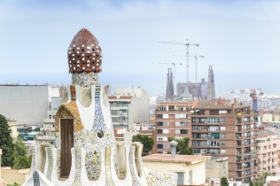 Panorama of Barcelona taken from Park Guell