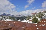 Snow in Sedona, Arizona