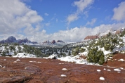 Snow in Sedona, Arizona