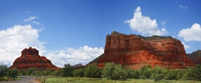 Bell Rock - Storm forming over red rock country Sedona