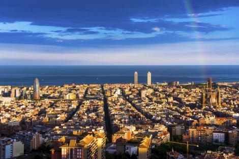 The City of Barcelona, Spain