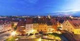 Evening panorama of Nuremberg, Germany