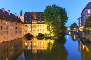 Evening scenery of Nuremberg, Germany