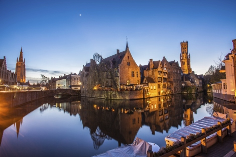 Bruges Belgium Canal City