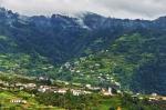 Terraced hills near Faial, Madeira