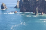 Rocks and cliffs at Cabo Sao Lorencio Madeira Portugal