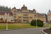 Abandoned hotel in Marianske Lazne (Marienbad Spa), Czech Republic.