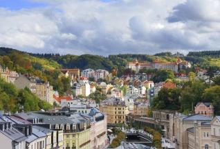 Autumn view of Karlovy Vary (Karlsbad)