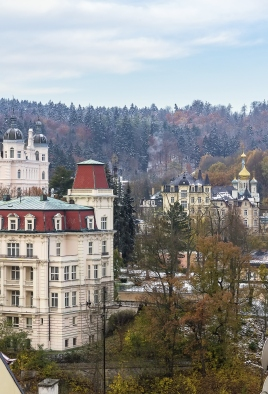 Panorama of Karlovy Vary,Czech republic
