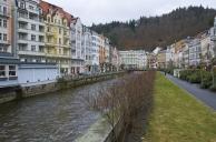 Karlovy Vary cityscape. Czech republic