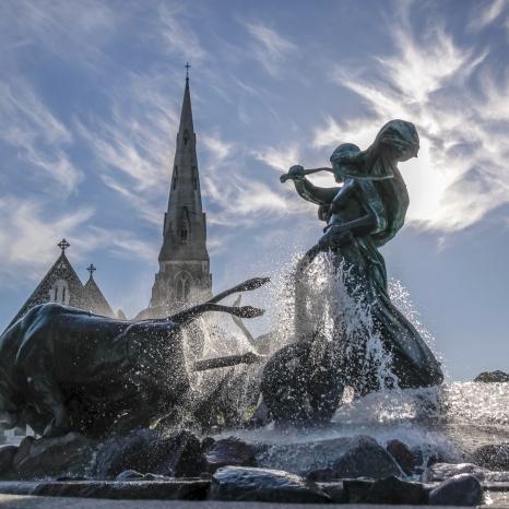 Gefion Fountain in Copenhagen