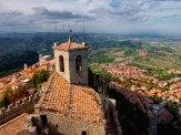 San Marino town from above
