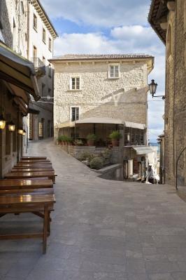 San Marino town narrow streets