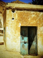 Old Turquoise Double Doors in Chebika