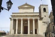 Basilica of saint Marinus on Borgo Maggiore