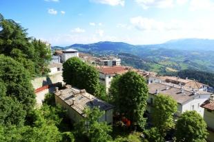 The view from Titano mountain, San Marino