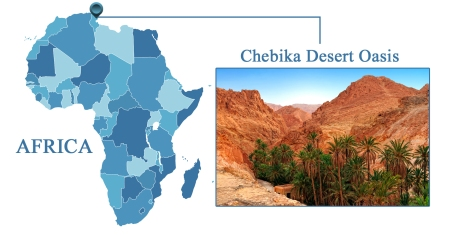 Chebika Oasis Map