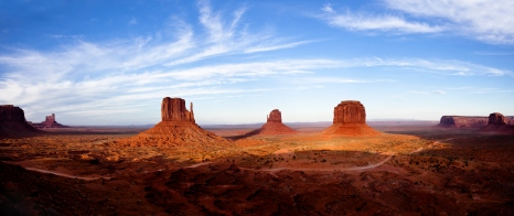 Evening View of Monument Valley