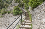 Stairs in the mountains near Montserrat, Spain