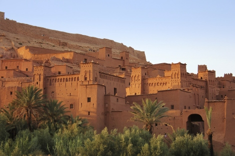 Morocco: The clay kasbah of Ait Benhaddou, old
