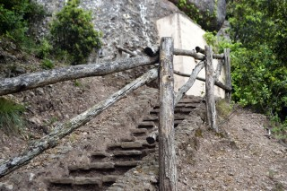 Steps in Montserrat Mountain