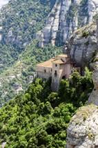 Montserrat is a mountain near Barcelona