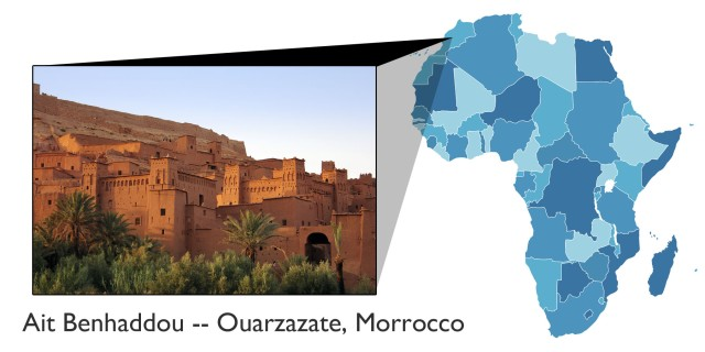 Ait Benhaddou map