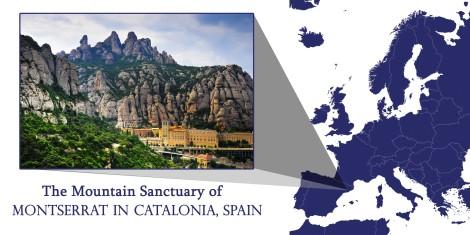 Montserrat Spain Map