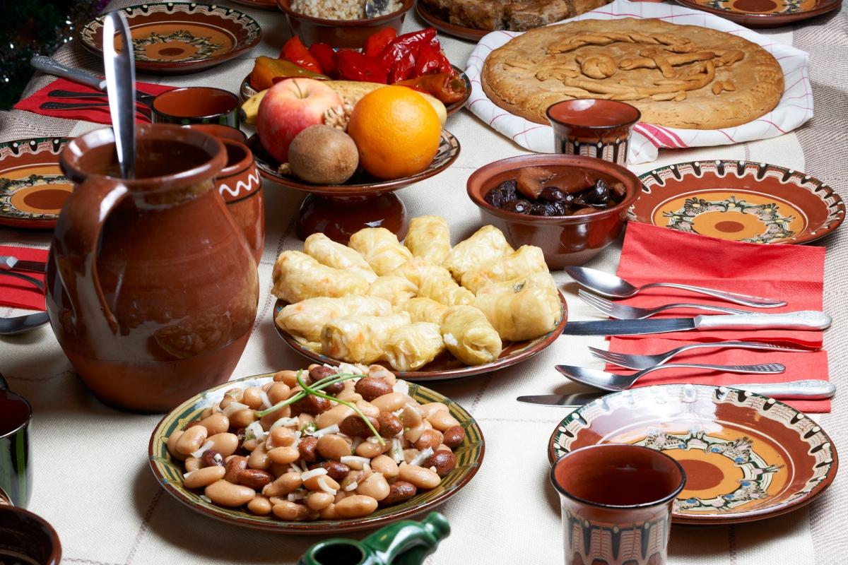 Traditional Bulgarian Christmas food