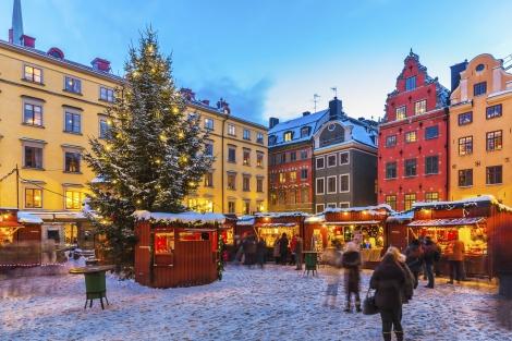 Christmas fair in Stockholm, Sweden