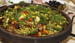 Bulgarian national dish of meat with vegetables