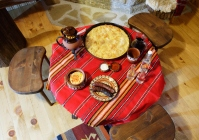Traditional Bulagrian dining-table