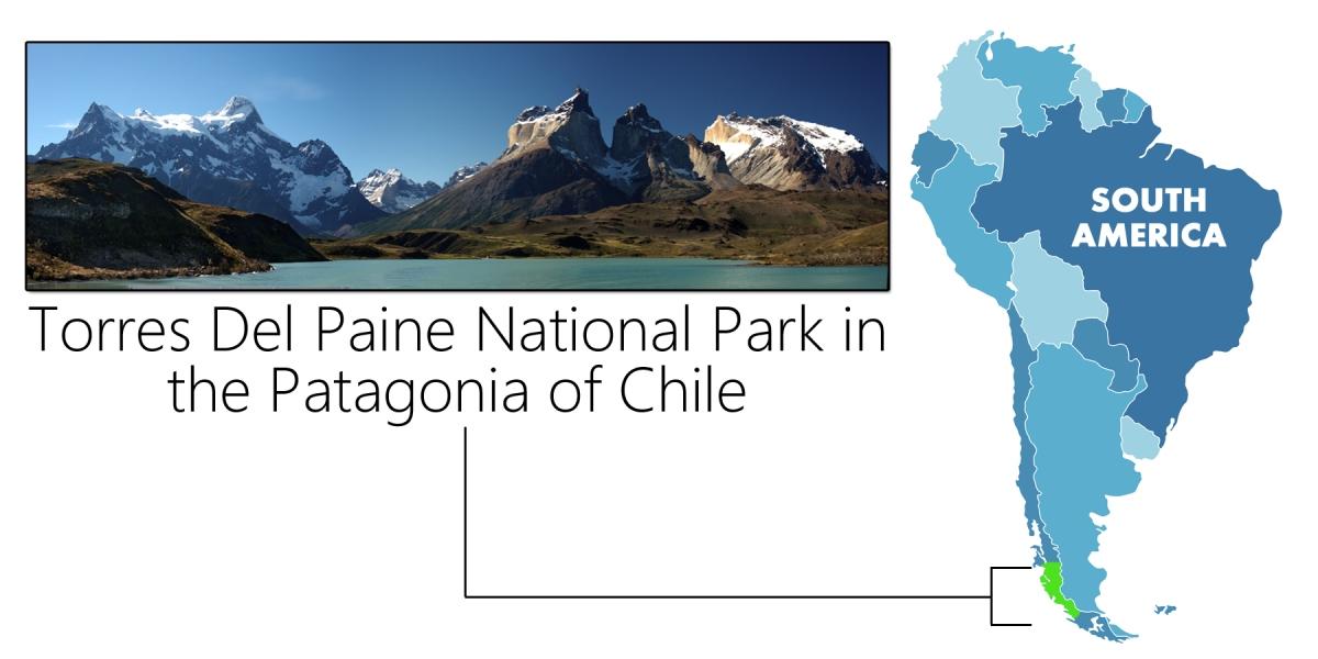 Torres Del Paine Map International Bellhop Travel Magazine